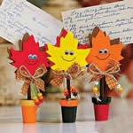 Fall Leaves Recipe Holder Craft Kit